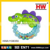 Hot selling infant toys the crocodile feature baby teether