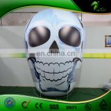 3m Helium Giant Inflatabel Halloween Skull , Inflatable Flying Skull Head Model For Advertising