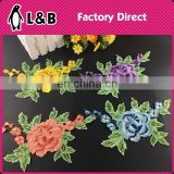 wholesale collars in stock embroidery designs flower neck lace polyester neck design in pair collar lace