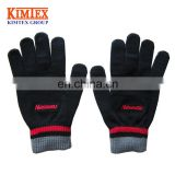 Hot sale custom knitted gloves with touch tips
