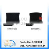 High quality black wool men large top hats with leather sweatband