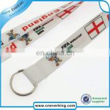 New 2017 custom heat transfer polyster lanyard for ceel phone/ID Card/watch for card holder
