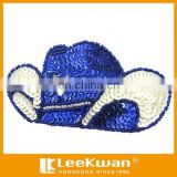 Star hat sequin embroidery applique style, beaded and sequin embroidered applique for garment accessories