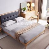 European Modern Furniture Wooden With Leather Headboard Cushion 1.8M Bed