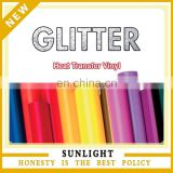 Glitter heat transfer vinyl &heat transfer film glitter for clothing