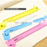 Kawaii Cartoon Small Animals Design Rulers Plastic Measuring Rulers School Set For Kids 150mm