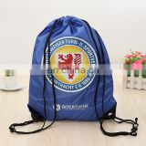 free samples TCCC AUDITY FACTORY cheap promotional 210T polyester drawstring bags