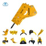 Box Silenced 140mm Chisel Stone Hammer Rock Hydraulic Breaker for 18-26 Ton Excavators