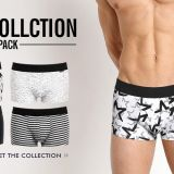 Men's underwear wholesale cotton black and white gray series men's boxer briefs OEM / ODM