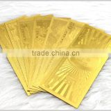 new promotion 24k pure gold foil banknotes,gold banknotes for collection                                                                         Quality Choice