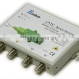 FTTH Four Ways CATV Fiber Optic Receiver build in Filter/Fiber Optic Node/Optic ONU