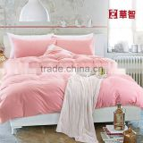 stone washing cotton bedding sets, linen bed sheets set queen size