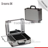 High quality aluminum cosmetic case with clasp, Collapsible Tubes makeup beauty display case