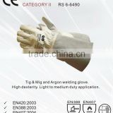 RS SAFETY Goat leather working gloves and tig Welding glove