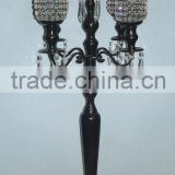 Candelabra with crystal ball attachment, candelabra, wedding candelabra, candle holder