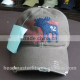 Factory Price Colors Custom Washed Cotton Baseball Cap 6 Panel Distressed Baseball Hat