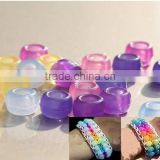 UV changing magic pony beads for loom bands bracelet