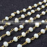 $4/meter by Trade Assurance- yellow green citrine topaz crystal quartz beaded chains for necklace