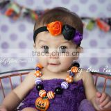 Hot-sales kids Halloween flower headband baby three flower hair band children Halloween hair accessory wh-1837