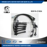 High voltage silicone Ignition wire set, ignition cable kit, spark plug wire 90919-21604 for TOYOTA