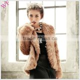 Custom womens fur coats turkey ladies rabbit fur coat