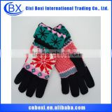 2014 Multicolor snow China wholesale long sleeve knit winter gloves