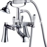 classic bathroom clawfoot bath tub shower mixer with hand shower