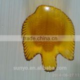 Hot Sale Fish Shaped Amber Colored Glass Salad Bowl Plate