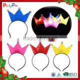 2015 LED Flashing Crown Head Hoop Novelty Decoration for Party Decoration