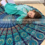 Indian Boho Hippie Mandala Roundie Beach Throw Roundie Yoga Mat Home Door Decor Table Cover Roundie Art