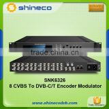 RF Modulator 8 Channels AV To RF Converter