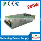 AC 220v to DC 24v 8.5a switch mode power supply for LED equitment Single output nonwaterproof 24v 200w driver