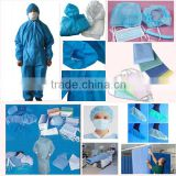 High quality 100% pp sms non woven fabric ,spunbonded sms fabric for face mask ,disposable medical shoe cover