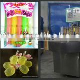 high efficiency fruit flavor freezer pop in plastic sleeves filling and sealing packing machine