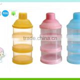 3 layers plastic food container baby milk powder container storage box