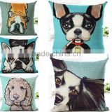 Dog Design Sofa Home Decor Design Throw Pillow Case Cushion Covers Square 18 Inch