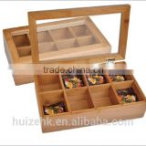 Bamboo Storage Tea Box with lid