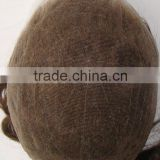 High Quality invisble knots Stock All Swiss/French Lace men's hairpieces,toupees,wigs                                                                         Quality Choice
