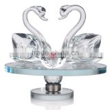 Wholesale K9 glass weddings decoration handmade ornament crystal swan wedding gifts for guests