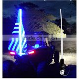 Professional factory supply 1.5m 1.8m flag pole light lighting pole car accessories warning safety led flag light