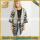 Patterned longline cardigan