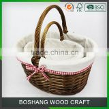 High Quality Handmade Wicker Basket for Wedding Favors Gifts Basket