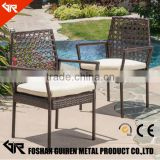 Stackable plastic chair black beach outdoor rattan chair