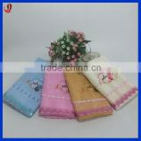 Factory Supply 100% Cotton Zero Twist Towel Set with Embroidery and Lace