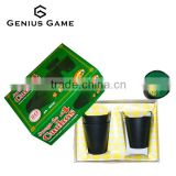 Custom 4pcs leather dice cup &12pcs dice set