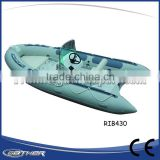 Gather High Quality Commercial outdoor fanny water sports inflatable motor rib boat