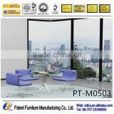 PT-M0503Meeting room table design tempered glass table used furniture office desk arabic intelligent furniture design