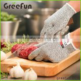 Custom HPPE Fiber Cut Proof Gloves , Custom Overlocking and Serging Anti-Cut Gloves For Restaurant Kitchen Cutting and slicing