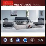Top quality new design black leather sectional sofa