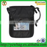 Fashion nylon travel wallet neck pouch rfid passport holder